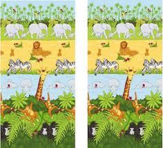 rideau chambre bébé jungle rideaux jungle safari cheeky monkey 167 x 182 cm amazon fr