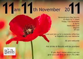 remembrance day at st basil u0027s this friday 11th november digbeth