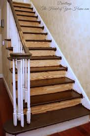 Staining Banister Diy Staircase Update Remodelaholic Diy Stair Banister Makeover