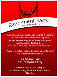 retirement party invitation wording retirement party invitation wording to design party invites