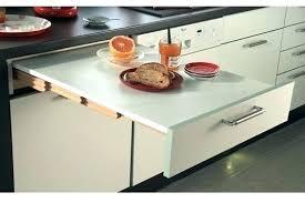 table coulissante cuisine table coulissante cuisine plan de travail escamotable cuisine