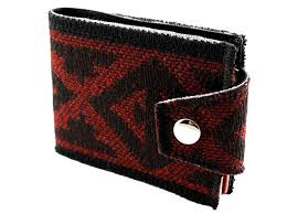 native american upholstery wallet vintage oxblood u0026 black fabric