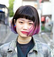 long bob with dipped ends hair image result for bob dip dye hair color pinterest dip dyed