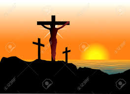 vector illustration of jesus christ on cross easter resurrection