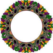 mardi gras picture frame barbara s creation freebies mardi gras cluster frame