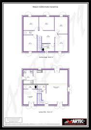 plan etage 4 chambres maison 100m2 4 chambres etage