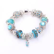murano glass bead bracelet images Aqua turquoise beach theme charm bracelet murano glass beads jpg
