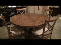 stanley pedestal dining table european farmhouse sunday supper 58 round pedestal dining table by