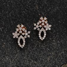 diamond ear studs gold antique earrings jewellery designs navrathan jewellers