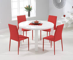 atlanta 120cm round white high gloss dining table with atlanta