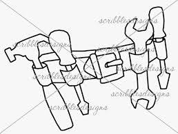 scribbles designs 805 tool belt 3 00