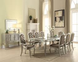acme dining room furniture francesca dining table 62080 in champagne by acme w options