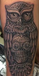 sugar skull owl sleeve binge thinking