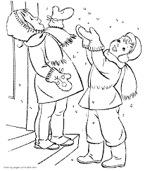 first snow coloring page
