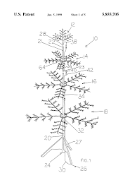 patent us5855705 artificial tree patents