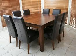 Square Wood Dining Tables Alluring Dining Table 60 Square Seats 8 Seater Patio Seat At