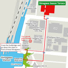 shinagawa station map access shinagawa season terrace