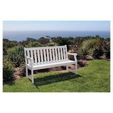 vifah bradley eco friendly 5 u0027 outdoor white wood garden bench target