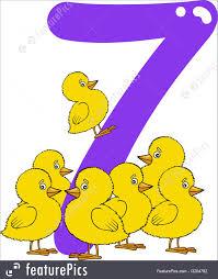 number seven and 7 illustration