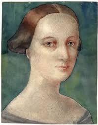 gerald leslie brockhurst watercolor female portrait sketch signed