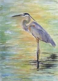 great blue heron by joe garcia oil 12 x 9 art birds