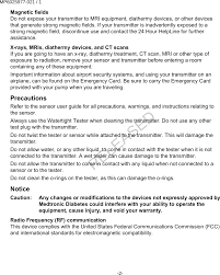 7821 glucose sensor transmitter user manual users manual medtronic