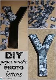 gifts for graduates this diy paper mache photo letters collage is easy to make and is