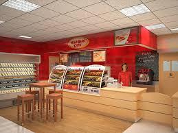 Cool Fast Food Store Design Best Ideas - Fast food interior design ideas