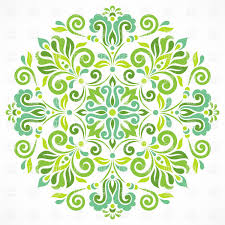 green graphic ornament vector clipart image 28841 rfclipart