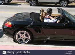 porsche convertible black miami beach florida ocean drive black porsche convertible sports