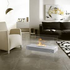 vitrum h u2013 freestanding ventless ethanol fireplace