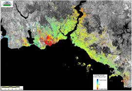 Istanbul Map Space In Images 2006 08 Subsidence Map Of Istanbul