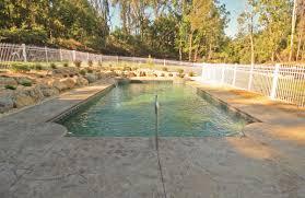 stamped concrete pool deck signature concrete design