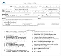 noc letter template tpddl customer zone services download forms and formats national automated clearing house nach