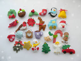 felt ornaments set 25 advent calendar ornaments