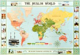 Picture Of The World Map Kube Publishing The Muslim World Map English