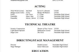 Stage Manager Resume Template Build Your Own Resume Free Resume Template And Professional Resume