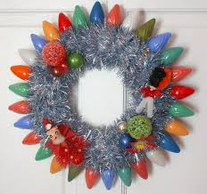 wreath blog by georgiapeachez vintage christmas lights