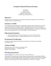 Good Engineering Resume Examples by Computer Engineer Resume Berathen Com