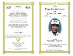 memorial program wording sle funeral program experience picture templates blank template