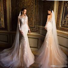 fishtail wedding dress milla chagne mermaid sleeve wedding dresses 2017 modest