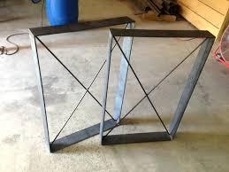 in metal table legs rustic table legs square metal industrial frames custom metal table