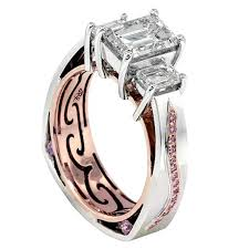 Custom Wedding Rings by Custom Engagement Rings Fine Jewelry Rock N Gold Creations