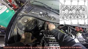 3 4 3 1 cylinder head gasket installation replacement youtube