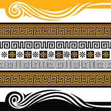 vector set of greece ornaments you can decorate with them