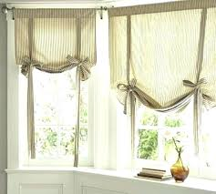 Kitchen Curtains Decorating Tie Up Kitchen Curtains Grommet Tie Up Kitchen