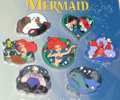 new disney pin booster starter set lot ariel little mermaid kiss
