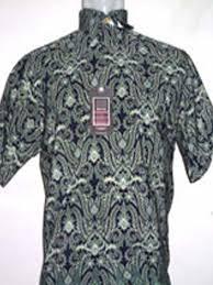 Baju Batik Batik baju batik batik lengan pendek abstrak hijau tua batik indonesia modern