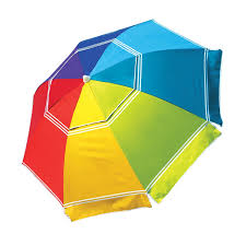 amazon com nautica beach umbrella upf 50 rainbow color patio