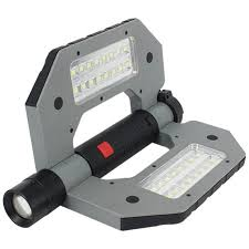 battery powered portable led work lights folding led worklight elm 8194 led work light rechargeable work